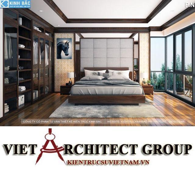 thiet ke phong ngu biet thu gamura 4 - Thiết kế nội thất biệt thự Gamuda Gardens gia đình Mr Lâm