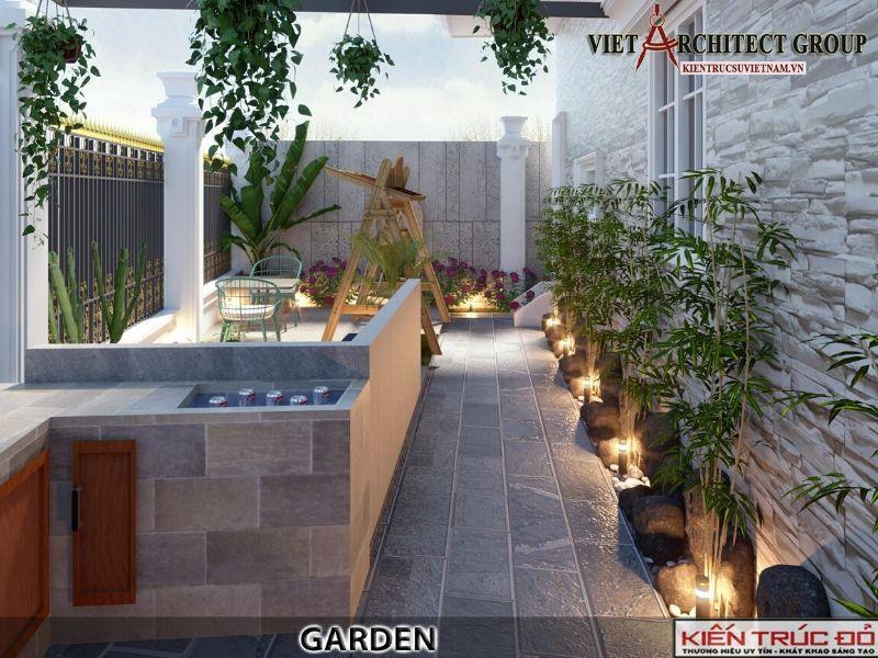 thiet tieu canh biet thu tan co dien  - Thiết kế biệt thự 3 tầng kiến trúc tân cổ điển ở Huế