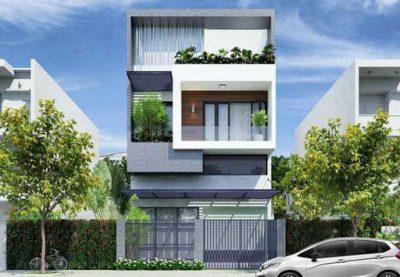 64 mau măt tien nha pho 5 m 3 tang dep nhu trong tranh 1 400x277 - Mẫu mặt tiền nhà phố 5m 3 tầng đẹp như trong tranh