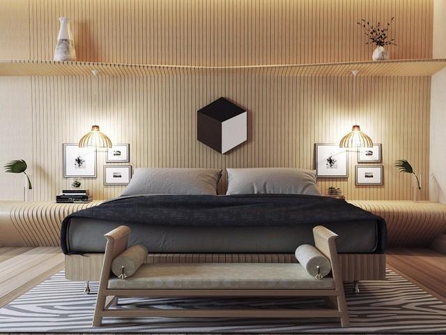 Khong gian phong ngu mang lai cho chu so huu cam giac an toan va yen tinh 3 - Mẫu thiết kế nhà 3 tầng 4x16m2 đẹp