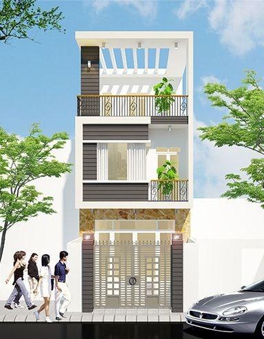 Mau thiet ke nha 3 tang dien tich 5x25m2 sang trong 1 - Mẫu thiết kế nhà 3 tầng 5x25m đẹp