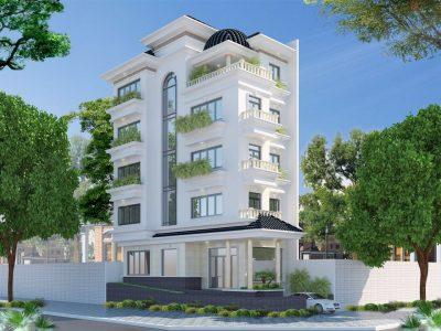 biet thu 5 tang tan co dien 1 400x300 - Thiết kế Biệt thự 5 tầng tân cổ điển đẹp sang trọng đẳng cấp