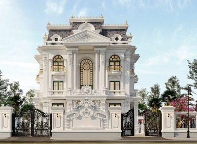 biet thu tan co dien thong tri thiet ke nha dep 1 400x293 - Biệt thự tân cổ điển thống trị thiết kế nhà đẹp