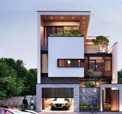 cac mau biet thu pho 3 tang hien dai nhat hien nay 1 400x376 - Các mẫu biệt thự phố 3 tầng hiện đại hot nhất hiện nay