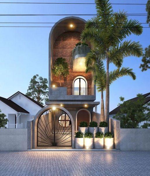 mat tien nha pho 5m 3 tang 514x600 - Mẫu nhà 3 tầng rộng 5m mang thiết kế ấn tượng hiện đại