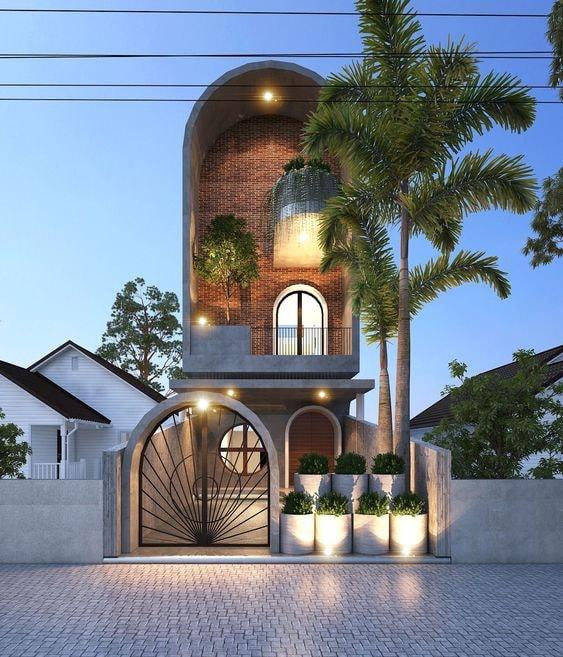mat tien nha pho 5m 3 tang - Mẫu nhà 3 tầng rộng 5m mang thiết kế ấn tượng hiện đại