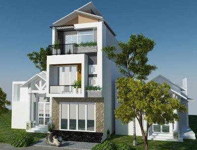 mau nha 3 tang dep 3 400x305 - Mẫu nhà phố 3 tầng đẹp - xu hướng thiết kế nhà phố 3 tầng
