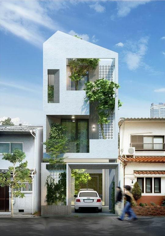mau nha 3 tang rong 5m - Mẫu nhà 3 tầng rộng 5m mang thiết kế ấn tượng hiện đại