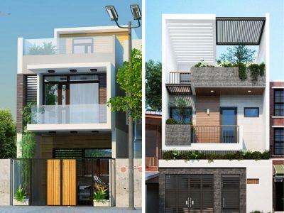 nha 2 tang 3 phong ngu 5x15 1 400x300 - Thiết kế nhà 2 tầng 3 phòng ngủ 5x15m đẹp tối ưu công năng phong thuỷ