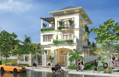 nha pho 3 tang hien dai 2 1 400x258 - Những mẫu nhà phố 3 tầng hiện đại