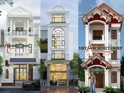 nha tan co dien 3 tang 1 400x300 - Thiết kế nhà tân cổ điển 3 tầng đẹp sang trọng đẳng cấp