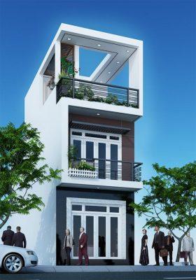 thiet ke nha 4x15 3 tang dep 4 280x400 - Thiết kế nhà 4x15 3 tầng đẹp