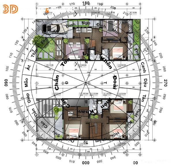 Thiết kế nhà theo phong thuỷ