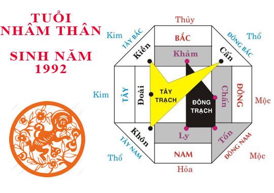 sinh năm 1992 hop huong nao 2 - Những người sinh năm 1992 nhâm thân hợp hướng nào?