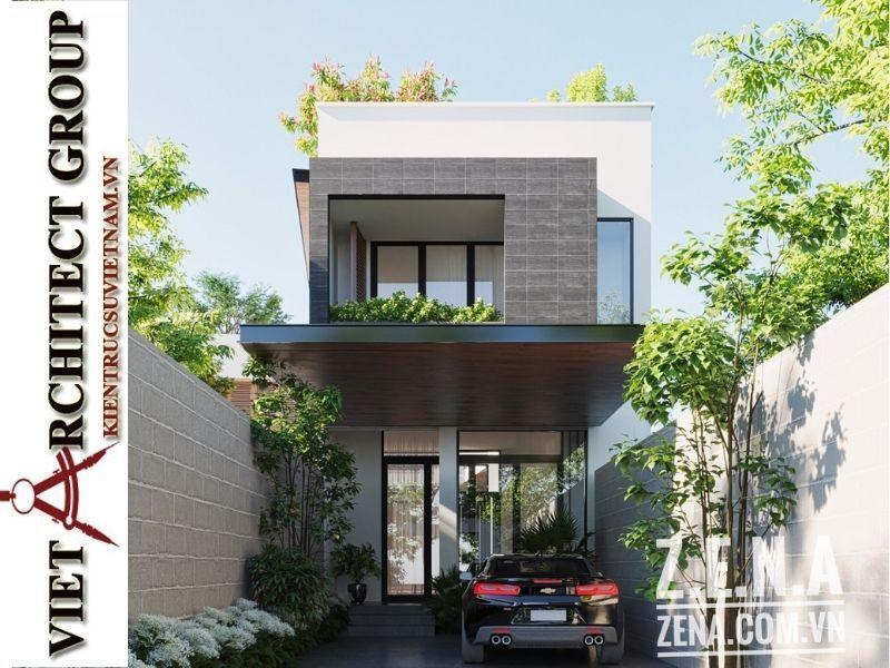 thiet ke biet thu 3 tang hien dai 3 - Thiết kế biệt thự hiện đại 3 tầng hiện đại nhiều cây xanh