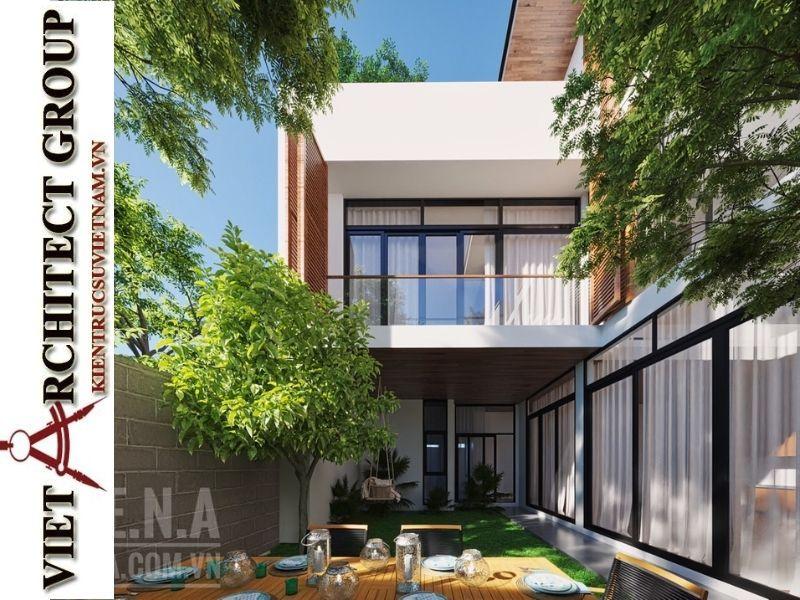 thiet ke biet thu 3 tang hien dai 6 - Thiết kế biệt thự hiện đại 3 tầng hiện đại nhiều cây xanh