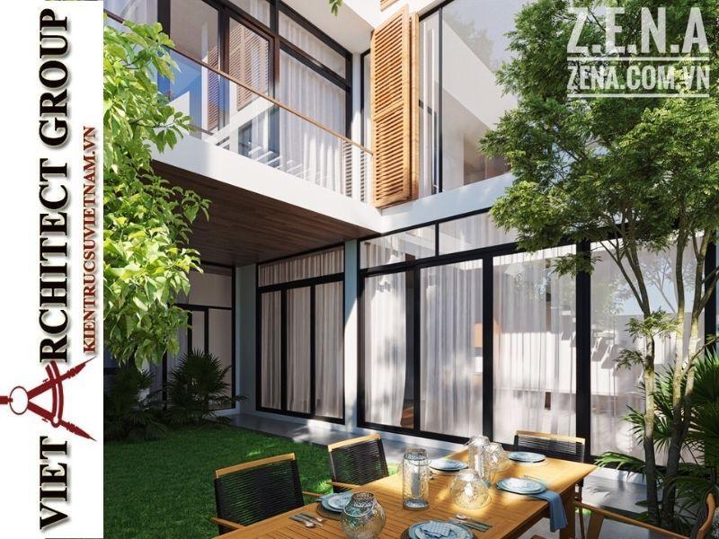 thiet ke biet thu 3 tang hien dai 9 - Thiết kế biệt thự hiện đại 3 tầng hiện đại nhiều cây xanh