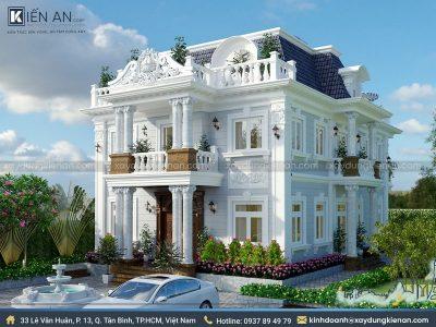 mau biet thu co dien 2 400x300 - Choáng ngợp với kiến trúc cao cấp qua 4 mẫu biệt thự cổ điển