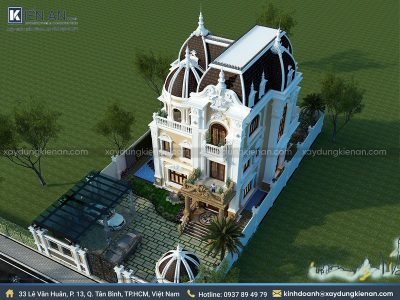 mau biet thu co dien 3 400x300 - Choáng ngợp với kiến trúc cao cấp qua 4 mẫu biệt thự cổ điển