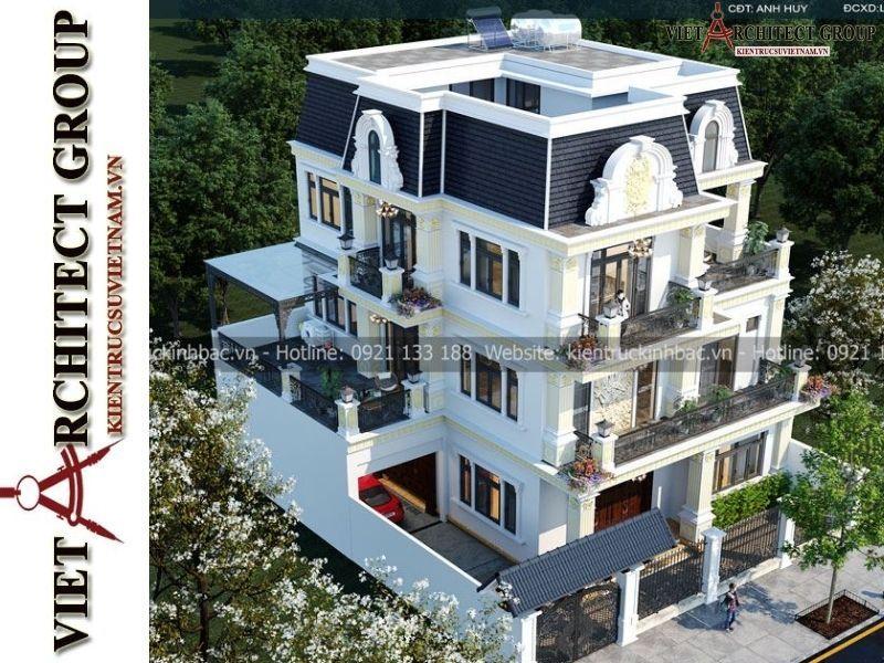 thiet ke biet thu tan co dien 3 tang 1 - Thiết kế thi công trọn gói biệt thự 3 tầng kiến trúc tân cổ điển gia đinh anh Huy
