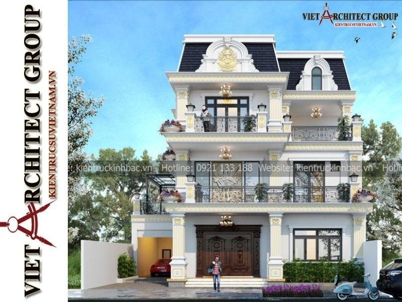 thiet ke biet thu tan co dien 3 tang 3 - Thiết kế thi công trọn gói biệt thự 3 tầng kiến trúc tân cổ điển gia đinh anh Huy