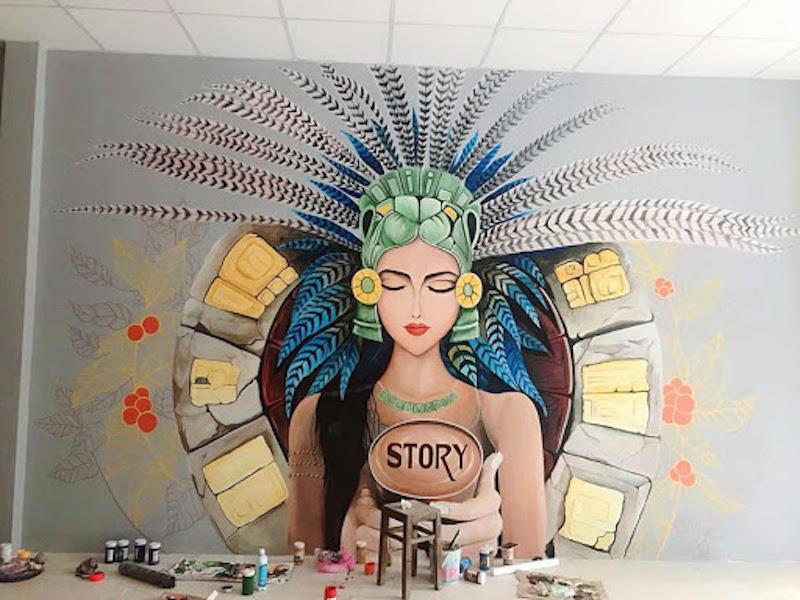ve tranh tuong spa 1 - Vẽ tranh tường cho spa