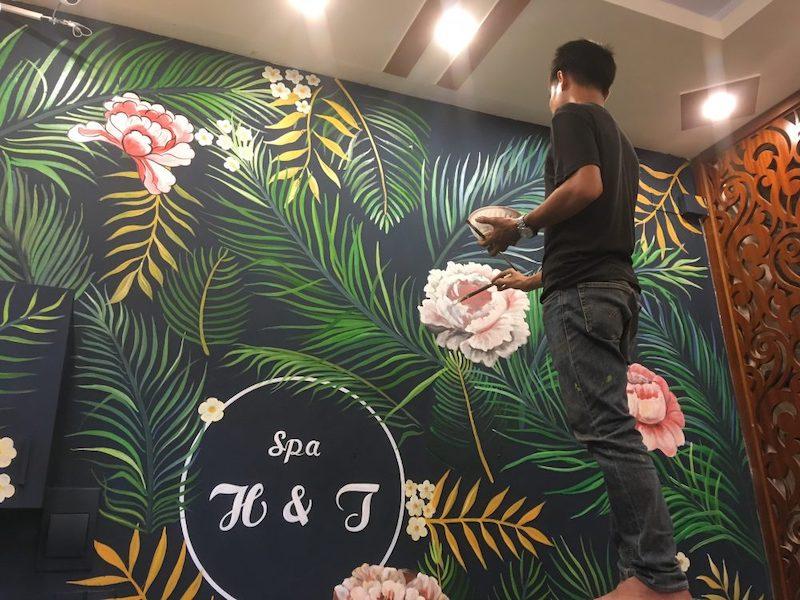 ve tranh tuong spa 4 - Vẽ tranh tường cho spa