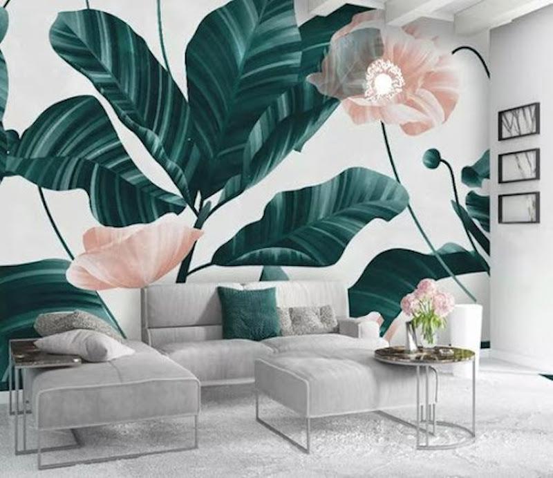 ve tranh tuong spa 6 - Vẽ tranh tường hoa lá đẹp ấn tượng