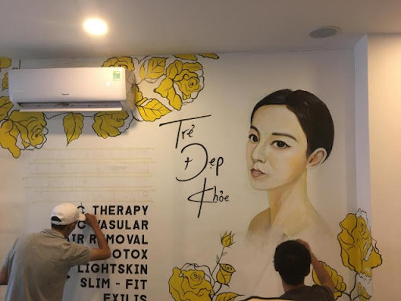 ve tranh tuong spa - Vẽ tranh tường cho spa
