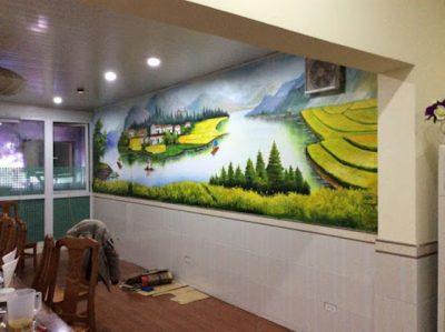 ve tranh tuong 400x299 - Vẽ tranh tường tại Huế