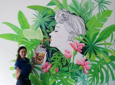 ve tranh tuong dep 400x298 - Vẽ tranh tường quán trà sữa
