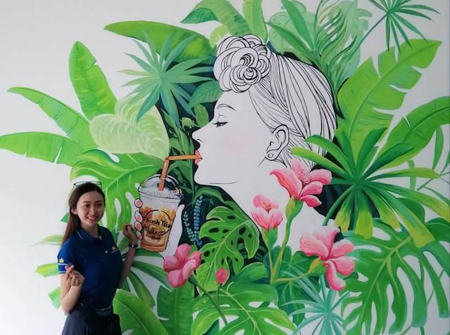 ve tranh tuong dep - Vẽ tranh tường quán trà sữa