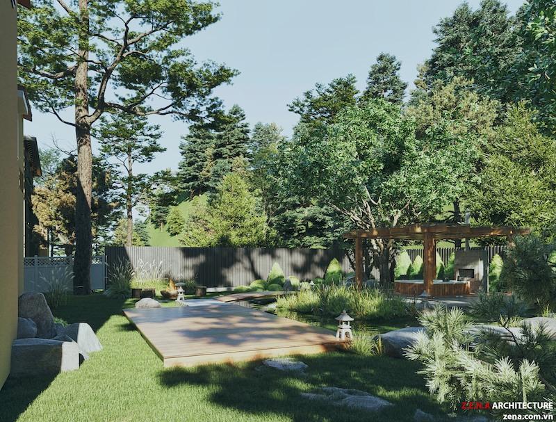 biet thu kieu my 5 - Thiết kế khu nghỉ dưỡng, du lịch sinh thái đẹp hấp dẫn