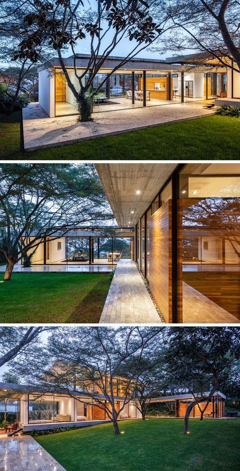 biet thu kieu my hien dai 3 - Thiết kế biệt thự kiểu Mỹ có sân vườn hồ bơi đẹp