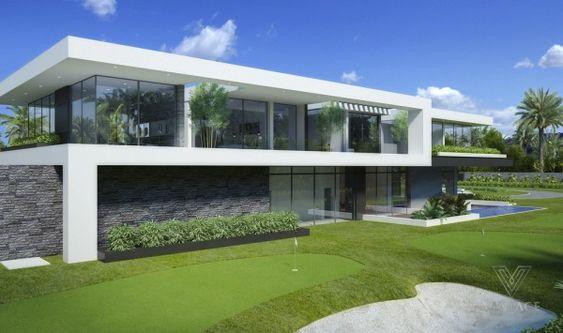 biet thu kieu my hien dai - Thiết kế biệt thự kiểu Mỹ có sân vườn hồ bơi đẹp