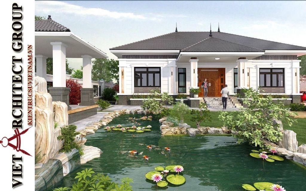mau nha vuon 1 tang dep - Tư vấn thiết kế nhà đẹp ở tại Bắc Giang