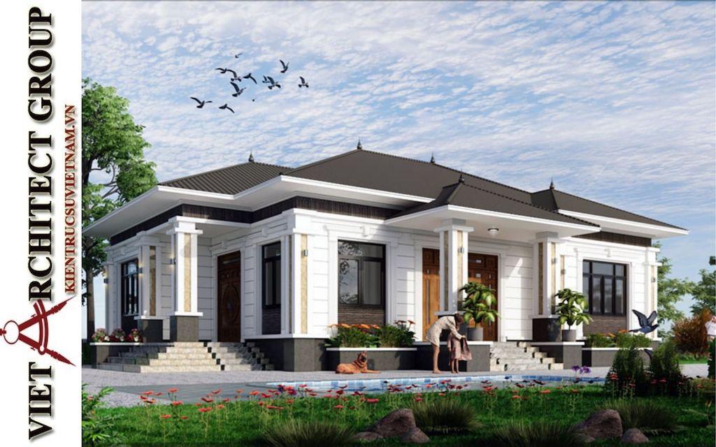 mau thiet ke biet thu 1 tang dep 2021 - Thiết kế nhà đẹp ở ĐắK LắK