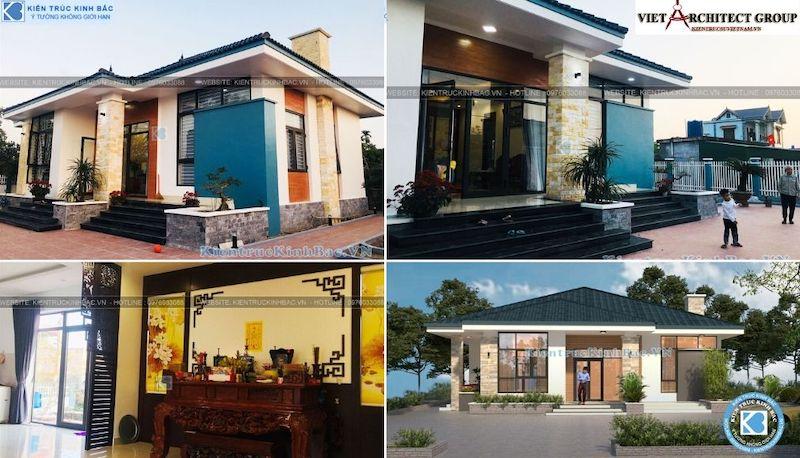 mau thiet ke nha dep 1 tang thai binh - Tư vấn thiết kế nhà đẹp ở tại Bắc Giang