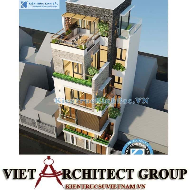 mau thiet ke nha dep 5 tang 5 6 - Tư vấn thiết kế nhà đẹp ở tại Bắc Giang