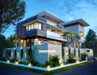 nha dep 2021 7a 400x308 - Gợi ý với 20 mẫu nhà đẹp phong cách hiện đại không gian mở