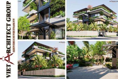 thiet ke biet thu 3 tang kien truc hien dai 400x267 - Phương án cải tạo thiết kế biệt thự 3 tầng hiện đại nhiều không gian xanh