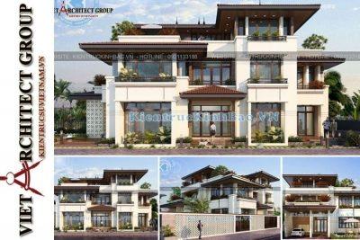 thiet ke biet thu dep 3 tang hien dai hung yen 4 400x267 - Tại sao nên xây nhà kiểu biệt thự 3 tầng mái thái hiện đại