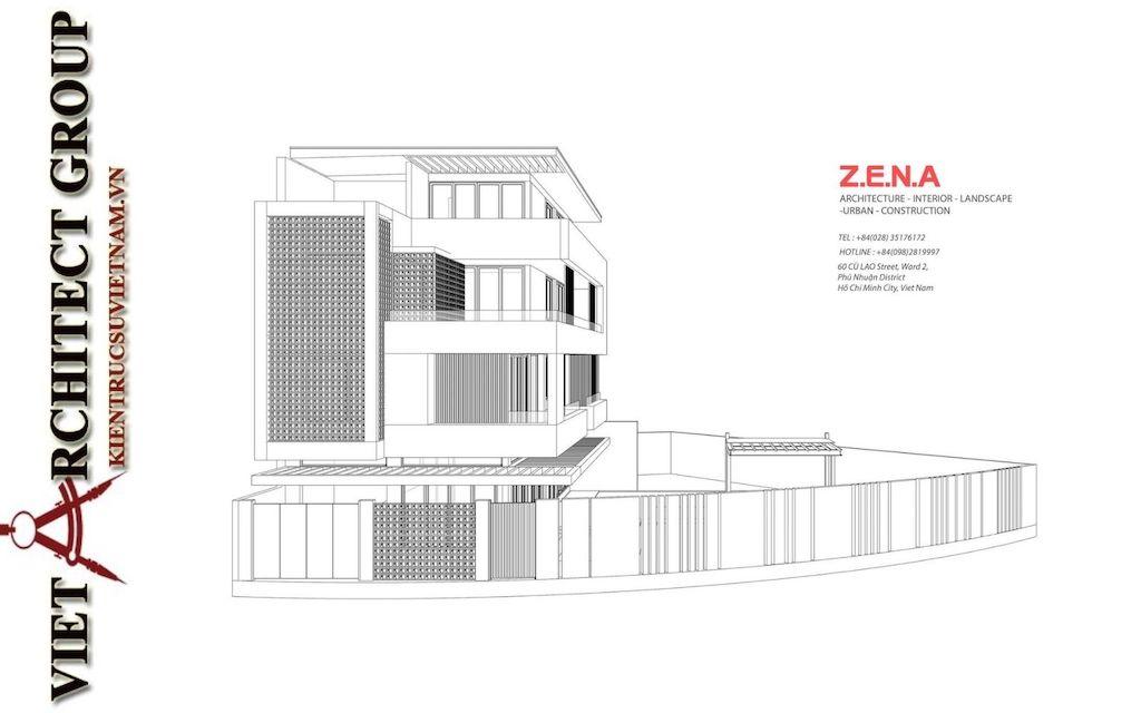 thiet ke biet thu pho phong cach hien dai dep - Thiết kế biệt thự phố hiện đại 4 tầng đẹp nằm trong khu quy hoạch