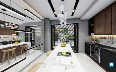 thiet ke noi that hien dai mr dan 6 400x250 - Thiết kế nội thất nhà phố hiện đại Mr Dân - Thủ Đức