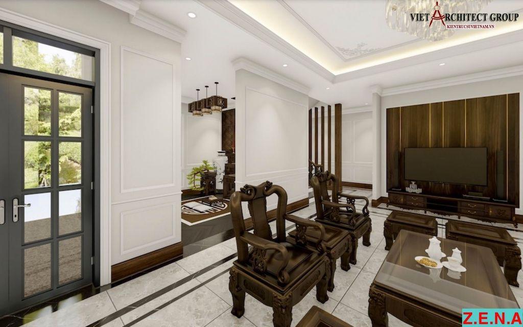 thiet ke noi that phong khach mr hieu tn 1 - Thiết kế nội thất phòng khách - 4 bước đơn giản tạo nên không gian đẹp