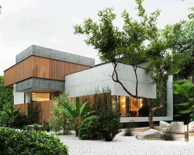thiet ke san vuon hien dai 002 - Thiết kế nhà vườn đẹp