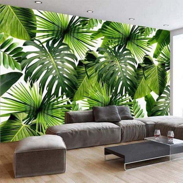 tranh tuong 3.jpeg e1620477150175 - Vẽ tranh tường hoa lá đẹp ấn tượng
