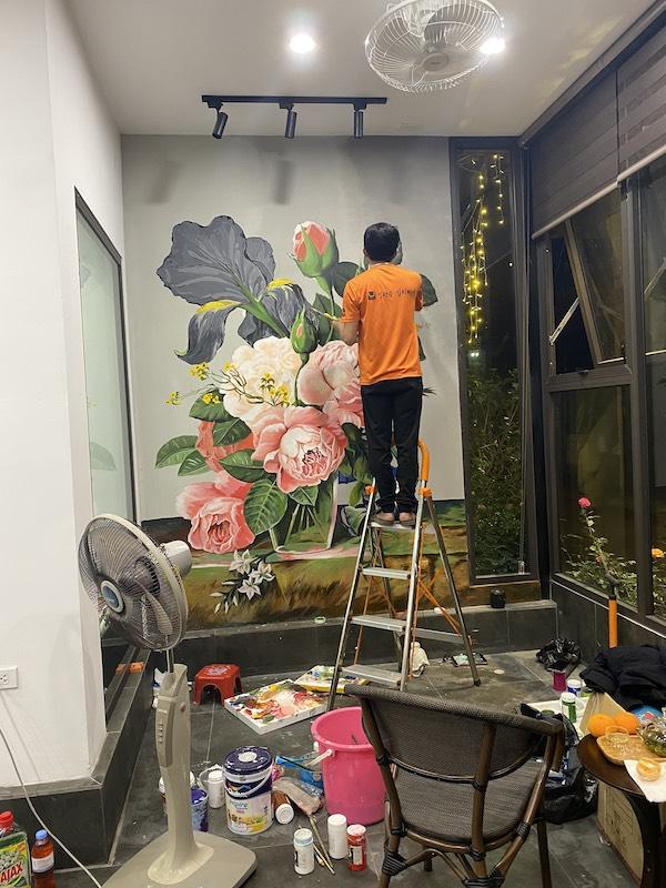 ve hoa tranh tuong - Vẽ tranh tường quán Cafe 2d, 3d cực đẹp theo yêu cầu đảm bảo tiến độ