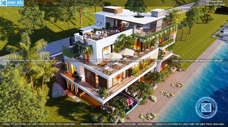 biet thu nghi duong view ho 1 - Top 10 địa chỉ tư vấn Thiết kế nhà Hải Phòng đẹp uy tín, chất lượng