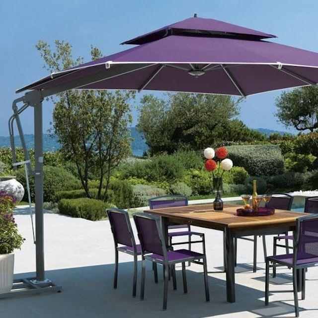 du che san vuon 1 - Dù che nắng lệch tâm ở sân vườn cafe nhà hàng - resort